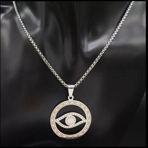 Witchcraft Pentagram Stainless Steel Chain Necklac